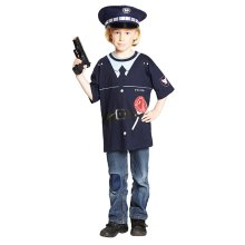 Police Shirt Costume CHILDREN Police Costume T-Shirt Size 104
