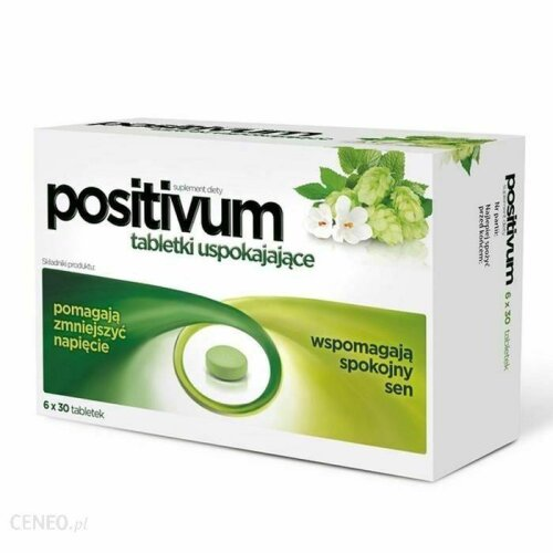 POSITIVUM - 180 Tabs - calming the body's natural support in case of nervous tension or irritability