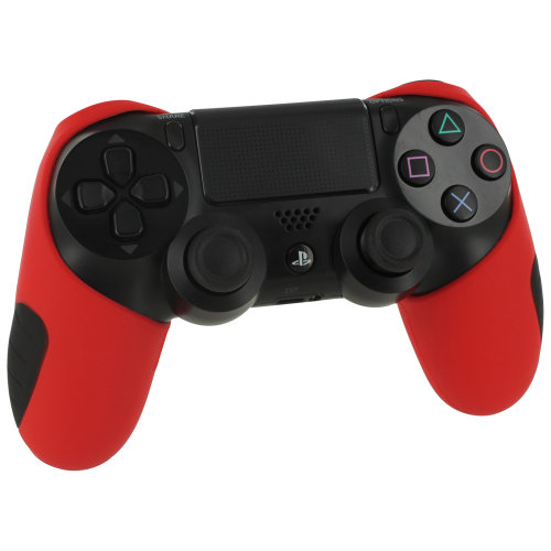 ZedLabz Red SG-1 Silicone Sony PS4 Controller Cover | Red PS4 Controller Grip