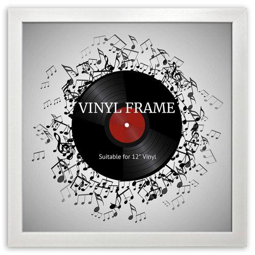 "12"" Vinyl Oxford White Frame - Glass Window"