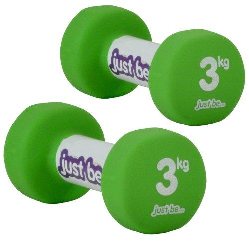 just be...® Dumbbells Set - Green - 3kg