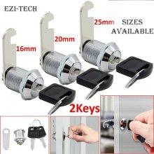 16,20,25mm Cam Lock+2 Keys For Door Cabinet