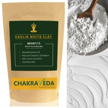 Pure Natural Kaolin White Clay, Best for Skin, 100g by ChakraVeda