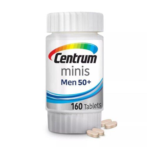 Centrum Minis Men 50+ Multivitamin/Multimineral Supplement 160 Tablets