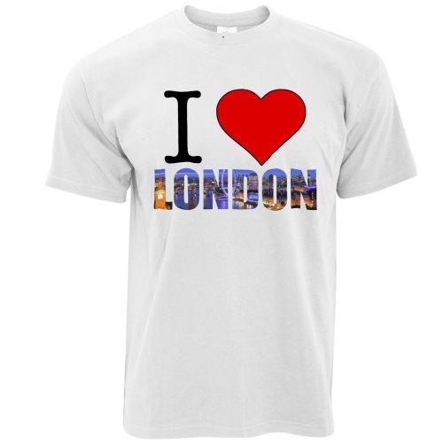 Tourist T Shirt I Love London England Slogan United Kingdom Queen Prince
