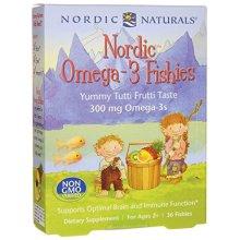 Nordic Naturals Nordic Omega-3 Fishies, 300mg Yummy Tutti Frutti Taste 36 Fishies, 36 Capsules