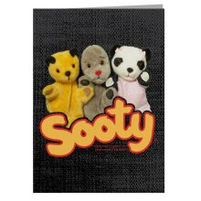 Sooty Sweep Soo Classic Logo Greeting Card