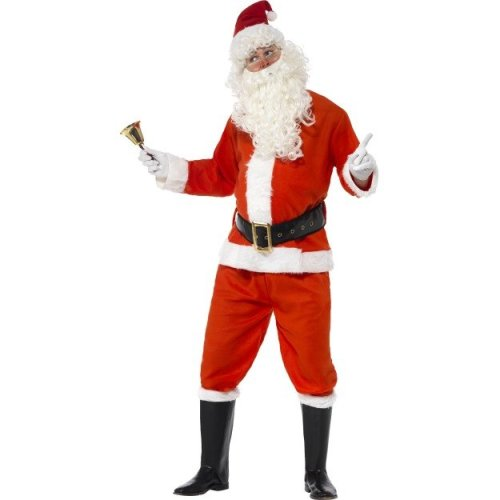 Adult's Santa Claus Costume -  costume santa christmas deluxe fancy dress mens father outfit xmas adult claus suit smiffys