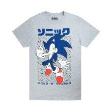 Sonic The Hedgehog Men's Short Sleeve Grey T-Shirt