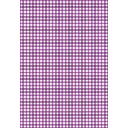 5 x A4 Purple Gingham Card Stock, Size:- Small - GING4