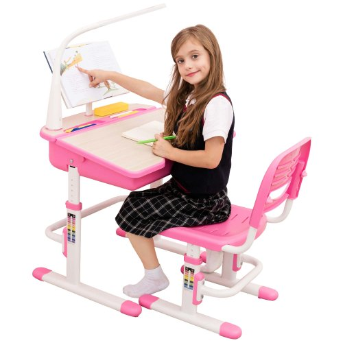 Height Adjustable Kids Study Desk Chair, Girls Desk And Chair