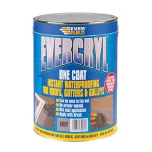 Everbuild Evercryl One Coat Roof Repair Compound Grey 5kg