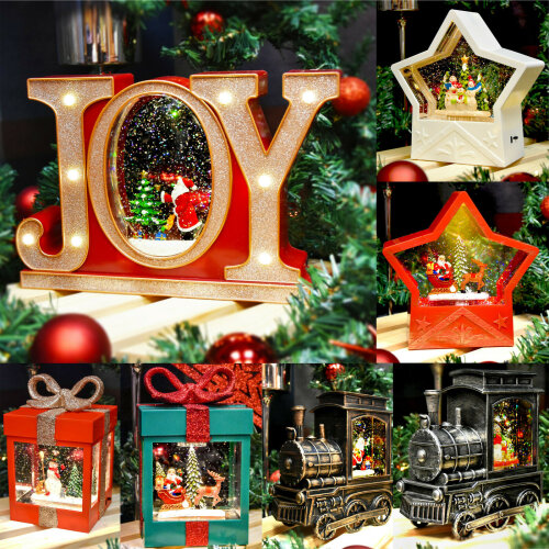 The Magic Toy Shop - Battery/USB/LED Dual Power Christmas Glitter Lantern Light Decoration