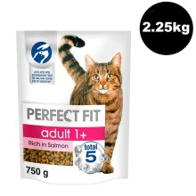 PERFECT FIT Cat Complete Dry Adult 1+ Salmon 3x750g