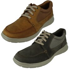 Mens Clarks Casual Shoes Cotrell Lane - G Fit