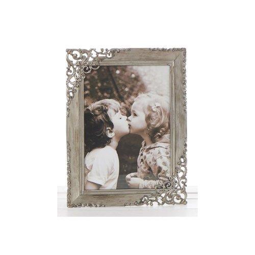 "Vintage Lace Ornate Rustic Metal Photo Frames - 7""x 5"""