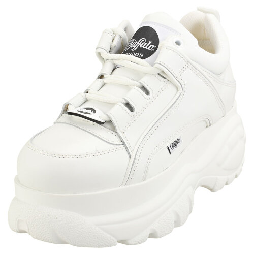 (6) Buffalo London 1339-14 2.0 V Womens Platform Trainers in White