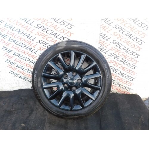 Mini Hatch One D Mk4 F55 13-18 Single Alloy Wheel + Tyre 16inch 6855104 V Scuffs - Used