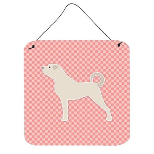 Anatolian Shepherd Checkerboard Pink Wall or Door Hanging Prints