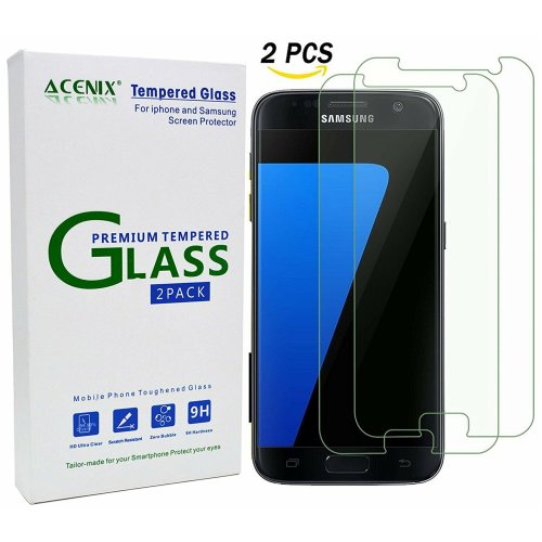 ACENIX® [2 - Pack] Samsung Galaxy S7 Ultra Clear Tempered Glass Screen Protector