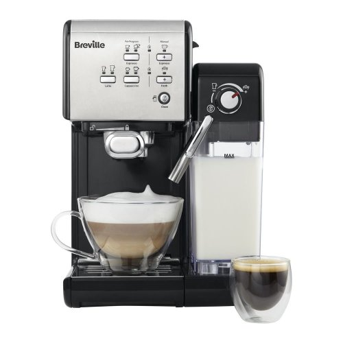 BREVILLE One-Touch VCF107 Coffee Machine - Black & Chrome, Black - Used