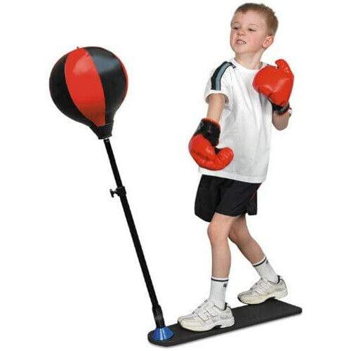 Junior Boxing Set Kids Punch Bag Ball & Mitts Gloves Kit Children Free Sstanding
