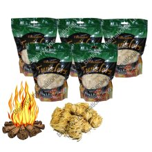 5 X HOMEFIRE TWIZLERS NATURAL FIRELIGHTERS - WOOD WOOL 300g
