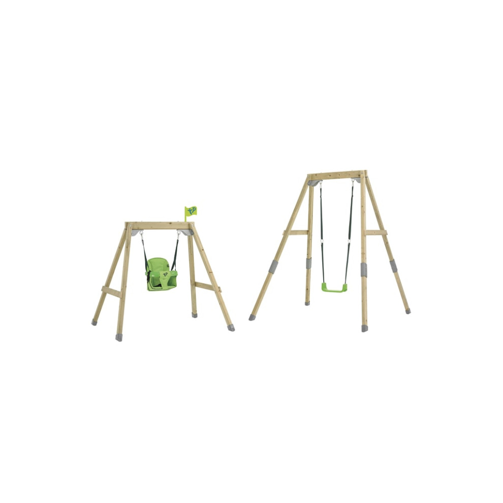 TP Toys Acorn Growable Wooden Swing Set Foldaway and Standard Swing Seat Build Frame From Low To Full Height Ages 6 Mont