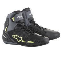 Alpinestars Faster-3 DS Shoes Motorcycle Motorbike Racing Blk/Grey/Yell/Fluo