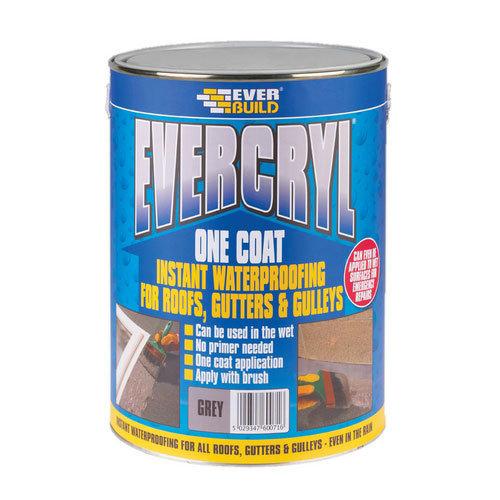 Everbuild Evercryl One Coat Roof Repair Compound Grey 5kg