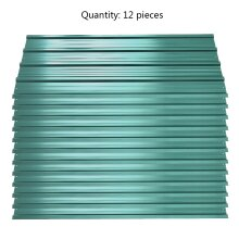 12pcs Metal Steel Corrugated Roof Sheets Roofing Cladding Garage