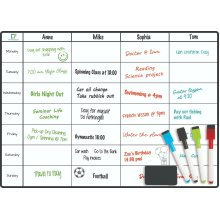 Meal Fridge Planner - Magnetic Weekly Whiteboard