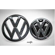 Modifix -Golf MK7 Carbon Fibre Badge Emblem Front & Rear Badges VW Golf 7 GTI GTE GTD R Line