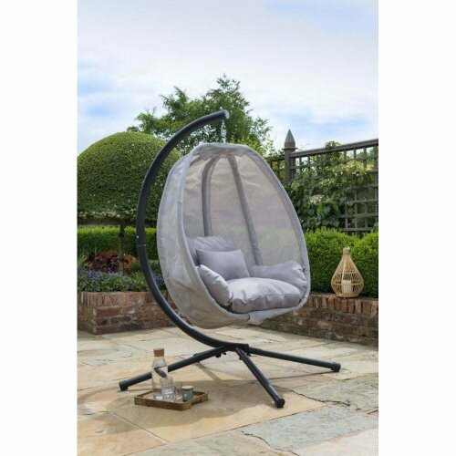 Norfolk Leisure Folding Textilene Swing Chair - Grey