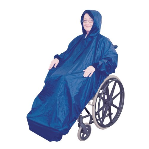Wheelchair Rain Cover With Sleeves - Waterproof Wheelchair Mac - Disability Aids