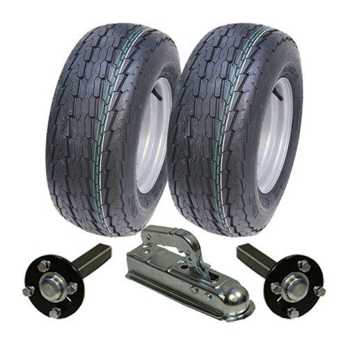 High speed trailer kit 20.5x8-10 wheels + hub & stub axle, hitch