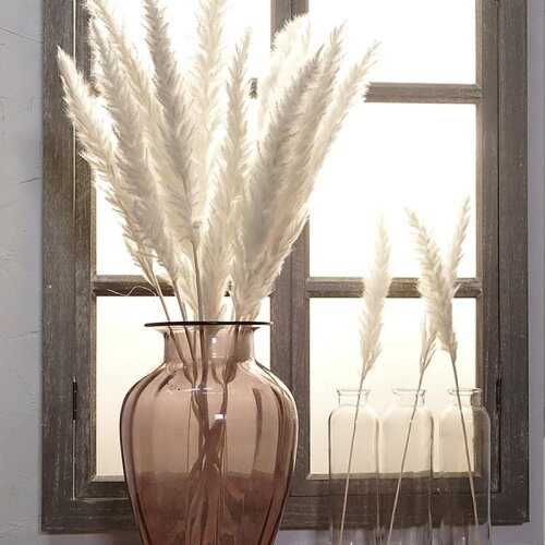 Natural Dried Flowers, Small Pampas Grass Phragmites, Artificial Flower Plants For Decoration