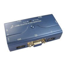 Compact 2 Port USB KVM Switch SOHO With Cables 1 User 2 PCs