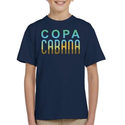 Copacabana Sunset Text Kid's T-Shirt