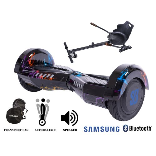 Package Smart Balance Hoverboard 8 inch, Transformers ThunderStorm + Hoverkart, Motor 700 Wat, Bluetooth, LED