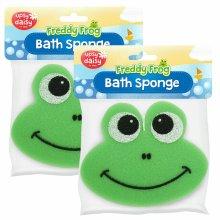2x Freddy Frog Bath Sponge  - Upsy Daisy Sponge