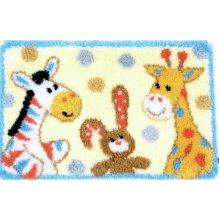 "Latch Hook Rug Kit""Nursery Animal Fun"" 70x45cm"