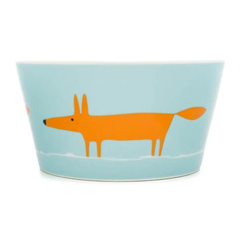 Scion Mr Fox Cereal Bowl, 0.36L - Orange/Duckegg