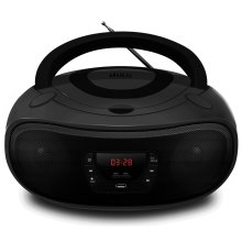 Grouptronics GTCD-501 BoomBox CD Player With Radio, USB, MP3 & AUX IN