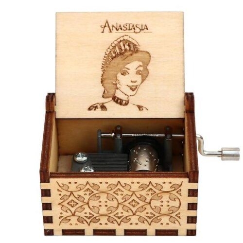 Anastasia Once Upon A December Wooden Hand Crank Music Box