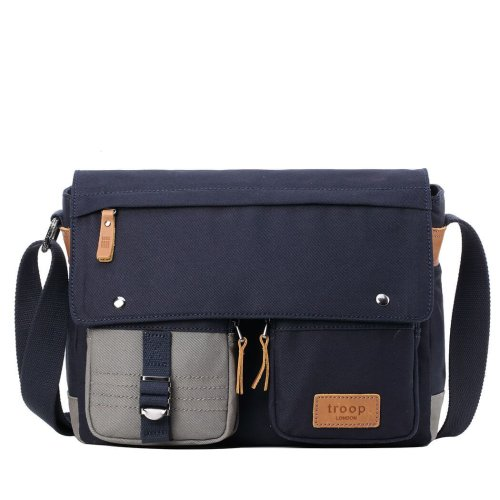TRP0499 Troop London Classic Canvas Messenger Bag | Buy Bags Online | Canvas Messenger Bags | leather canvas backpack