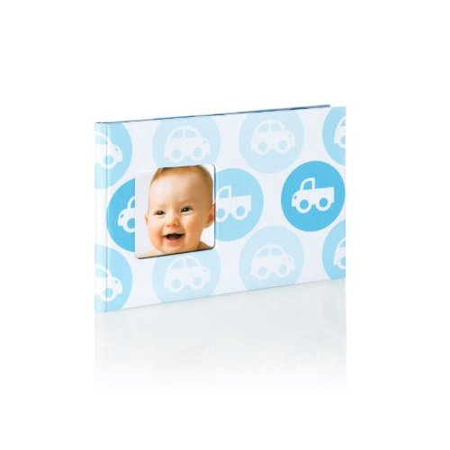 Pearhead Baby Brag Book Blue Cars Photo Album Holds 24 Photos