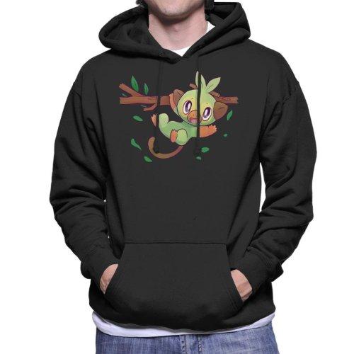 Pokemon Grookey Sword Shield Starter Men's Hooded Sweatshirt