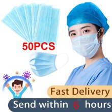 50pcs 3 Soft Layers Disposable Face Mask in Each Mask
