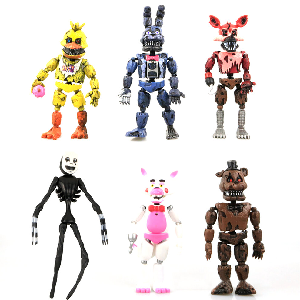 """6 PCS Five Nights At Freddy/'s FNAF Bunnie Game 6/"""" Action Figures Doll Toys Gift"""